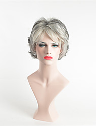 cheap -Synthetic Wig Curly Asymmetrical Wig Short Grey Synthetic Hair 12 inch Women's Party Dark Gray