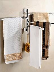 cheap -Towel Bar New Design / Cool Modern Stainless Steel / Iron 1pc 4-towel bar Wall Mounted