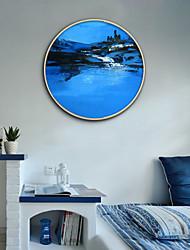 cheap -Framed Canvas Framed Set - Abstract Landscape Plastic Illustration Wall Art
