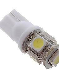 cheap -5 x T10 194 168 501 5-SMD White 5050 LED Car Light Bulb