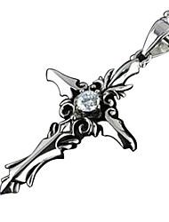 Недорогие -Ожерелья с подвесками С перекрещивающимися бретелями Готика Титановая сталь Назначение Vampire Dracula Косплей Муж. Бижутерия Модное ювелирное украшение / 1 ожерелье / Подвеска 1PC