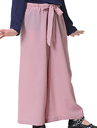 cheap -Kids Girls' Active Basic Street chic Daily Sports Solid Colored Pants Blushing Pink