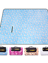 cheap -TANXIANZHE® Picnic Blanket Tent Tarps Outdoor Camping Breathable Moisture Moistureproof 200*150 cm Beach Traveling Picnic for 3 person All Seasons Pink Grey Sky Blue+White