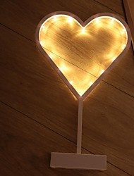cheap -1pc Heart Shape LED Night Light Yellow AA Batteries Powered Creative <=36 V