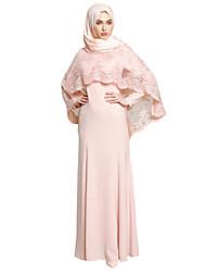 cheap -Adults' Women's A-Line Slip Ethnic Arabian Dress Abaya Kaftan Dress Jalabiya Muslim Dress Maxi Dresses For Halloween Daily Wear Festival Polyester / Cotton Blend Embroidery Embroidered Long Length