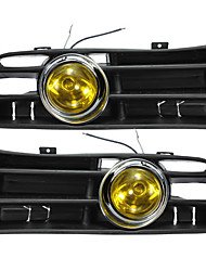 cheap -Yellow Front Fog LED Light Lamp Lower Grille for 98-04 VW Golf MK4