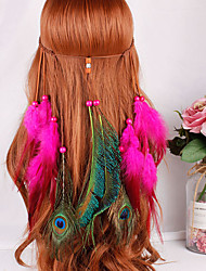 cheap -American Indian Headdress Adults' Bohemian Style Women's Yellow / Blue / Fuchsia Feather / Velour Party Cosplay Accessories Halloween / Carnival / Masquerade Costumes / Female