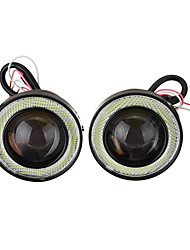 cheap -Pair 2.5Inch Car LED Fog Lights with COB Angel Eye Halo Ring DRL Projector Lens Driving Light Kit