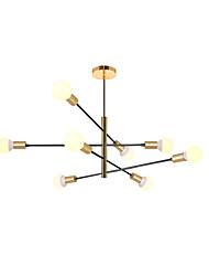 cheap -8-Light Sputnik Chandelier Ambient Light Painted Finishes Metal New Design 110-120V / 220-240V
