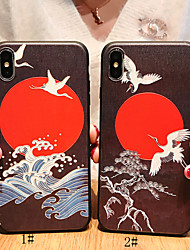 cheap -Case For Apple iPhone XS / iPhone XR / iPhone XS Max Frosted / Pattern Back Cover Animal Soft TPU