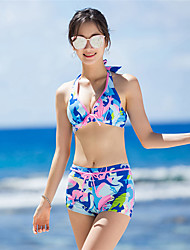 cheap -SANQI Women's Two Piece Swimsuit Swimwear Quick Dry Sleeveless Swimming Water Sports Patchwork Summer