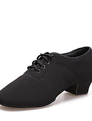 cheap -Women's Dance Shoes Canvas Jazz Shoes Heel Thick Heel Customizable Black / Performance / Practice