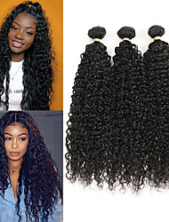 cheap -3 Bundles Brazilian Hair Water Wave Remy Human Hair Human Hair Extensions 8-22 inch Human Hair Weaves Soft Best Quality New Arrival Human Hair Extensions