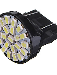 cheap -2 x T25 3157 22SMD White LED Car Tail Brake Stop Turn Lights