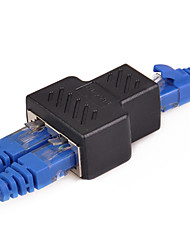 cheap -1 To 2 Ways LAN Ethernet Network Cable RJ45 to RJ45 Adapter Female - Female Splitter Connector Adapter