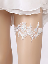 cheap -Lace Elegant / Bridal Wedding Garter With Appliques / Pearls Garters Wedding / Party