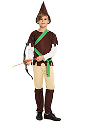 cheap -Robin Hood Masquerade Kid's Boys' Halloween Carnival St Patricks Day Festival / Holiday Polyster Brown Carnival Costumes Shamrock Novelty