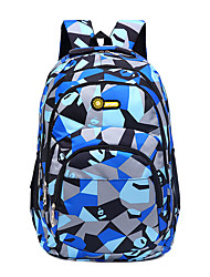 cheap -25 L Hiking Backpack Rucksack Breathable Wear Resistance High Capacity Outdoor Hiking School Oxford Cloth Blue Pink Dark Navy