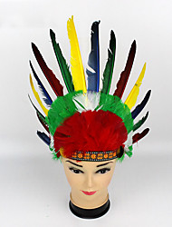 cheap -American Indian Headpiece Adults' Bohemian Style Women's Colorful Feather / Fabric Party Cosplay Accessories Halloween / Carnival / Masquerade Costumes / Female
