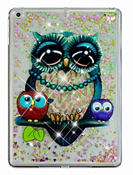 cheap -Case For Apple iPad Air / iPad (2018) / iPad Air 2 Flowing Liquid / Pattern Back Cover Owl / Glitter Shine Hard PC / iPad (2017)