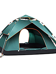 cheap -TANXIANZHE® 4 person Automatic Tent Outdoor Windproof Rain Waterproof Breathability Double Layered Automatic Camping Tent 2000-3000 mm for Beach Camping / Hiking / Caving Traveling PU (Polyurethane)