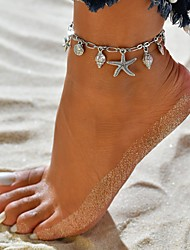 cheap -Women's Charm Bracelet Tropical Silver Plated Bracelet Jewelry Silver For Wedding Engagement Date Going out Bikini