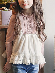 cheap -Kids Girls' Active Color Block Long Sleeve Shirt Blushing Pink