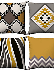 cheap -Cushion Cover 2PC Linen Soft Decorative Square Throw Pillow Cover Cushion Case Pillowcase for Sofa Bedroom 45 x 45 cm (18 x 18 Inch) Superior Quality Mashine Washable Pack of 2