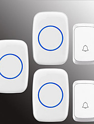 cheap -Wireless Two to Three Doorbell Music / Ding dong Non-visual doorbell Surface Mounted