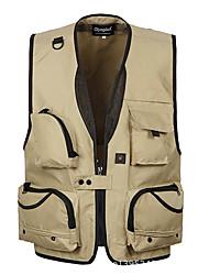 cheap -Men's Hiking Vest / Gilet Fishing Vest Outdoor Lightweight Breathable Quick Dry Wear Resistance Jacket Top Mesh Single Slider Hiking Climbing Camping Black / Army Green / Grey / Khaki / Multi Pocket
