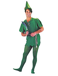 cheap -Peter Pan Masquerade Adults' Men's Halloween Carnival St Patricks Day Festival / Holiday Polyster Green Carnival Costumes Shamrock Novelty