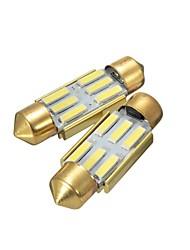 cheap -36MM White 6 SMD Number Plate Interior LED Reading Light Festoon Bulb Error Free