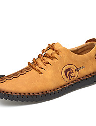 Недорогие -Муж. Наппа Leather Весна лето / Наступила зима На каждый день / Английский Туфли на шнуровке Для прогулок Черный / Желтый / Хаки