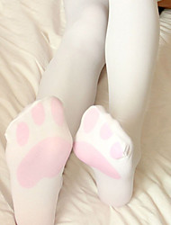cheap -Animal Cosplay Cat Women's Adults' Sweet Lolita Princess Lolita Tights Socks / Long Stockings Thigh High Socks White Cat Velvet Socks Lolita Accessories / High Elasticity