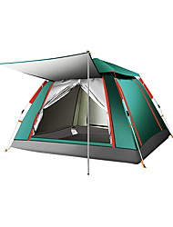 cheap -TANXIANZHE® 4 person Automatic Tent Outdoor Windproof Rain Waterproof Breathability Single Layered Automatic Camping Tent 2000-3000 mm for Beach Camping / Hiking / Caving Traveling Silver Tape