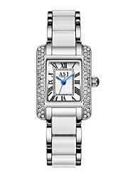 cheap -ASJ Women's Dress Watch Japanese Quartz Minimalist Casual Watch Analog Rose Gold White / One Year / One Year / SSUO SR626SW+CR2025