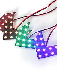cheap -Pair DC12V 14SMD Arrow LED Panels Car Side Mirror Rear Turn Signal Indicator Lights