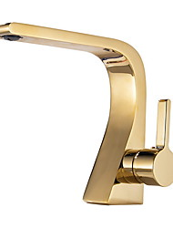 cheap -Bathroom Sink Faucet - Widespread Electroplated Other Single Handle One HoleBath Taps / Brass