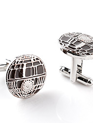 cheap -Cufflinks Alphabet Shape Formal Classic Brooch Jewelry Black Silver For Engagement Gift