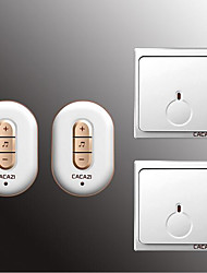 cheap -Wireless Two to Two Doorbell Music / Ding dong Non-visual doorbell