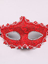 cheap -Venetian Mask Masquerade Mask Half Mask Inspired by Cosplay Venetian Black White Halloween Halloween Carnival Masquerade Adults' Women's Female