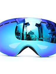 cheap -Professional Skiing Motorcycle Snowboard Ski Goggles Anti Fog UV Double Lens Blue