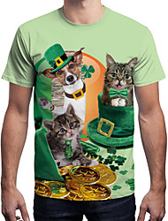 cheap -Elf Masquerade Adults' Men's Halloween Carnival St Patricks Day Festival / Holiday Polyster Green Carnival Costumes 4 Leaf Shamrock Novelty