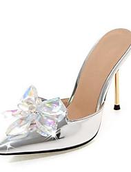 abordables -Femme Cuir Verni / Polyuréthane Eté Doux / Minimalisme Chaussures de mariage Talon Aiguille Bout pointu Strass Fuchsia / Argent / Rose
