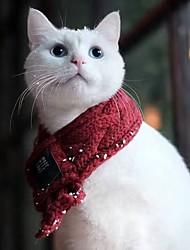 Недорогие -Собаки Коты Шарф для собаки Зима Одежда для собак Сохраняет тепло Костюм Акриловые волокна Простой Сохраняет тепло Наколенники Симпатичные Стиль S L