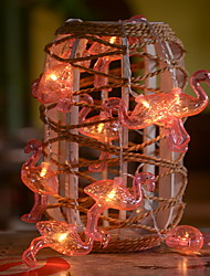 cheap -3m Pink Flamingo String Lights 20 LEDs Warm White Party Home Decorative Batteries Powered 1 set