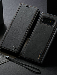 cheap -Case For Samsung Galaxy Note 8 Wallet / with Stand / Flip Full Body Cases Solid Colored Hard PU Leather