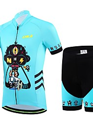 cheap -cheji® Boys' Girls' Short Sleeve Cycling Jersey with Shorts - Kid's Red Blue Cartoon Bike Clothing Suit Breathable Sports Lycra Cartoon Mountain Bike MTB Road Bike Cycling Clothing Apparel
