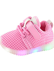 cheap -Boys' / Girls' LED / Comfort / LED Shoes Mesh Sneakers Toddler(9m-4ys) / Little Kids(4-7ys) Black / White / Pink Spring &  Fall / Rubber