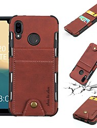 cheap -Case For Huawei Huawei P20 / Huawei P20 Pro / Huawei P20 lite Wallet / Card Holder / Shockproof Back Cover Solid Colored Soft PU Leather